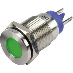 LED signalno svjetlo, zelene boje 12 V TRU Components GQ16F-D/G/12V/S