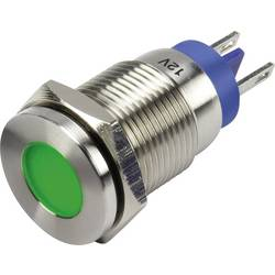 LED signalna lučka, zelene barve 12 V TRU Components GQ16F-D/G/12V/N