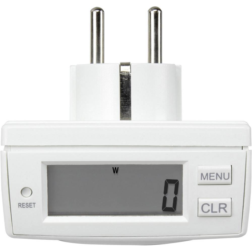 Merilnik porabe električne energije Basetech EM 2000, Energy Monitor 2000 LCD 0,00 - 9999,99 kWh