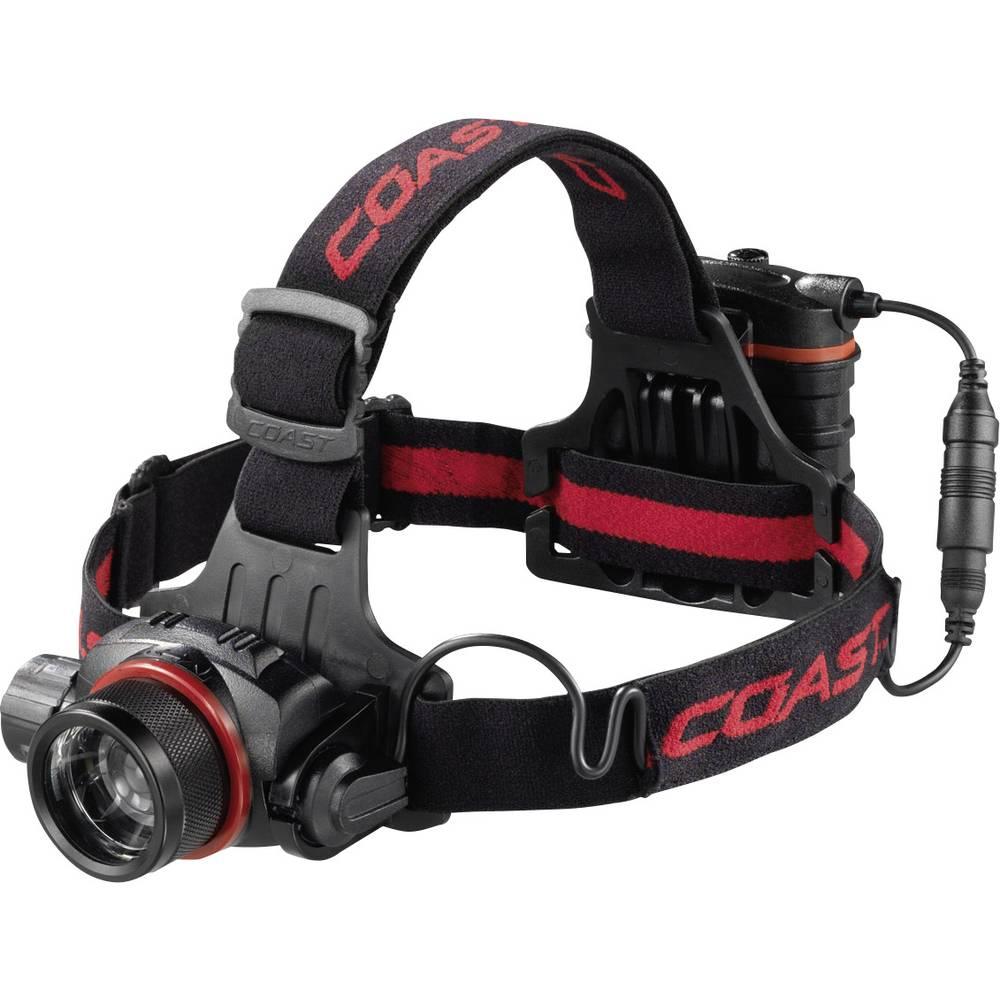 LED svjetiljka za glavu HL8 Coast na baterije 363 g crna, crvena 138488