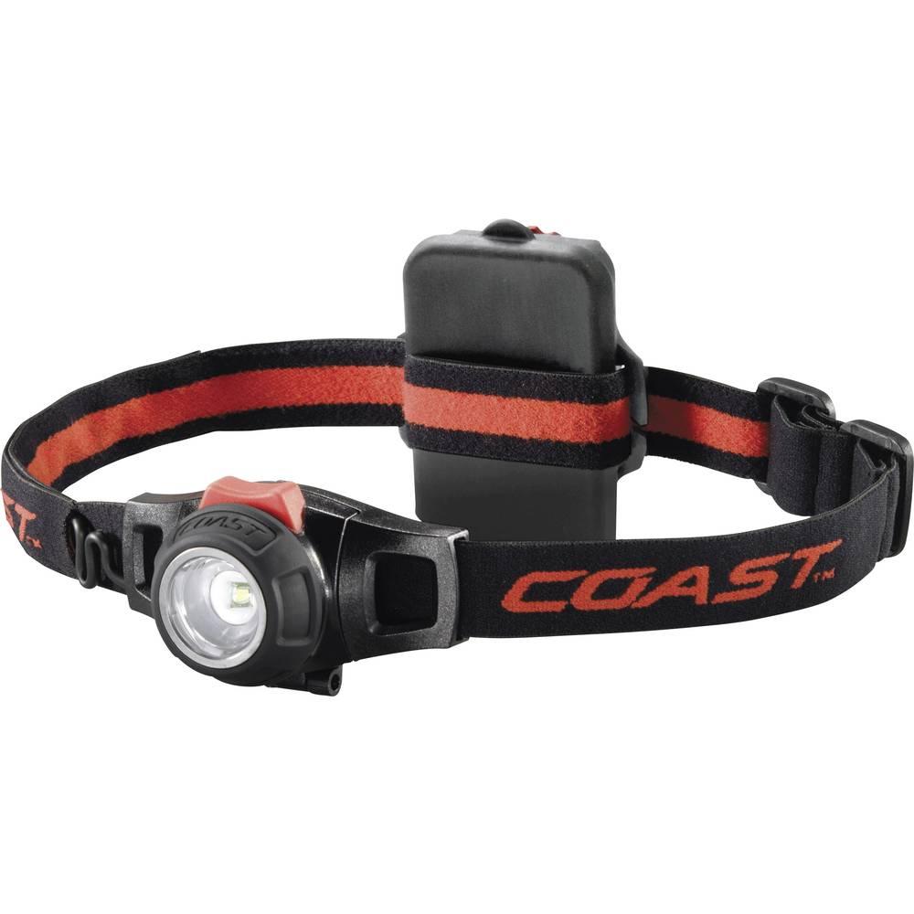 LED svjetiljka za glavu HL7 Coast na baterije 125 g crna, crvena 140116