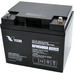 Solarni akumulator 12 V 50 Ah Vision Akkus 6FM50DX svinčevo-koprenast (AGM) (Š x V x G) 197 x 170 x 165 mm M6-vijačni priklop