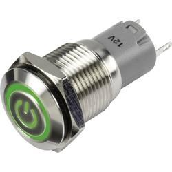 Pritisno stikalo 48 V/DC 2 A 1 x vklop/vklop TRU Components LAS2GQF-11ZET/G/12V/S/P IP65 zaskočno 1 kos