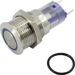 Pritisno stikalo 48 V/DC 2 A 1 x vklop/vklop TRU Components LAS2GQF-11ZET/W/12V/S/P IP65 zaskočno 1 kos