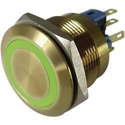 Pritisna tipka z zaščito pred vandalizmom 250 V/AC 3 A 1 x izklop/(vklop) TRU Components GQ22-11E/G/12V/G IP65 tipkalno 1 kos