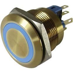 Pritisna tipka z zaščito pred vandalizmom 250 V/AC 3 A 1 x izklop/(vklop) TRU Components GQ22-11E/B/12V/G IP65 tipkalno 1 kos