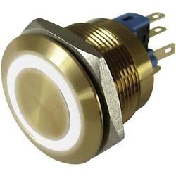 Pritisna tipka z zaščito pred vandalizmom 250 V/AC 3 A 1 x izklop/(vklop) TRU Components GQ22-11E/W/12V/G IP65 tipkalno 1 kos