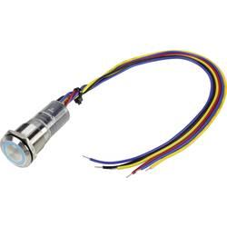 Pritisna tipka z zaščito pred vandalizmom 250 V/AC 5 A 1 x izklop/(vklop) TRU Components LAS1-GQ-11E/B/230V/IP67 IP67 tipkalno 1