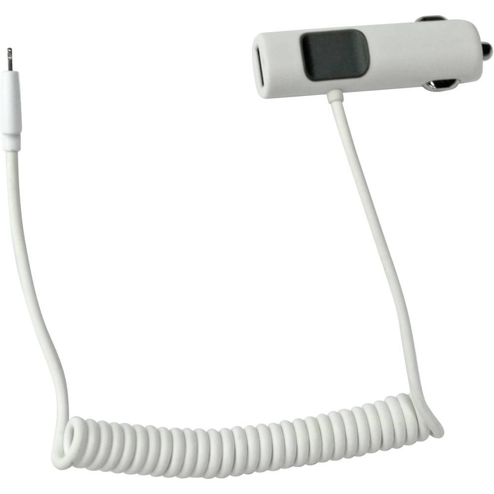 USB-oplader LogiLink PA0103 PA0103 Personbil, Lastbil Udgangsstrøm max. 3400 mA 2 x USB, Apple dockstik Lightning