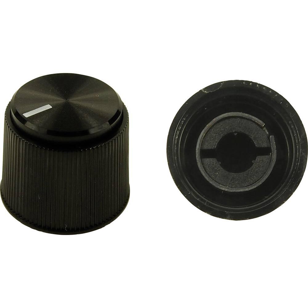 Cliff vrtljivi gumb K7 CL16924 črni, premer osi 6 mm