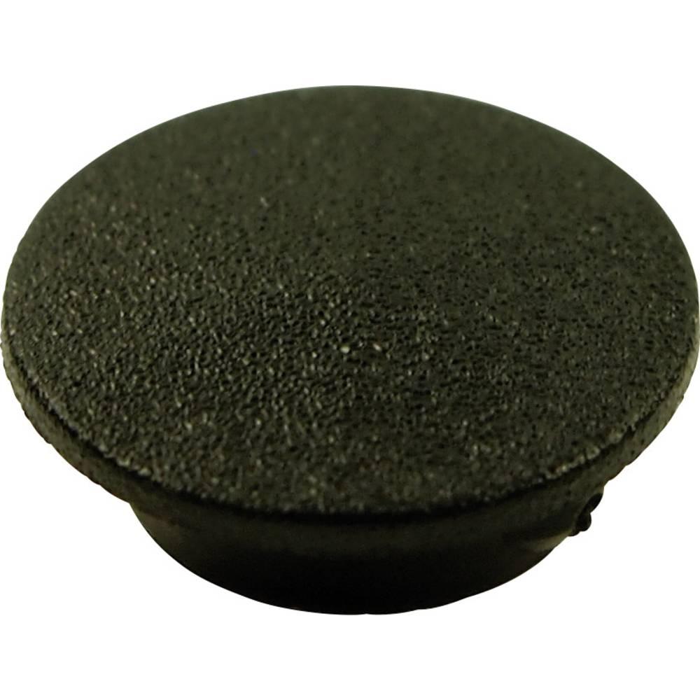 Poklopac, crne boje, pogodan za vrtljivo dugme K21 Cliff CL1730 1 kom.