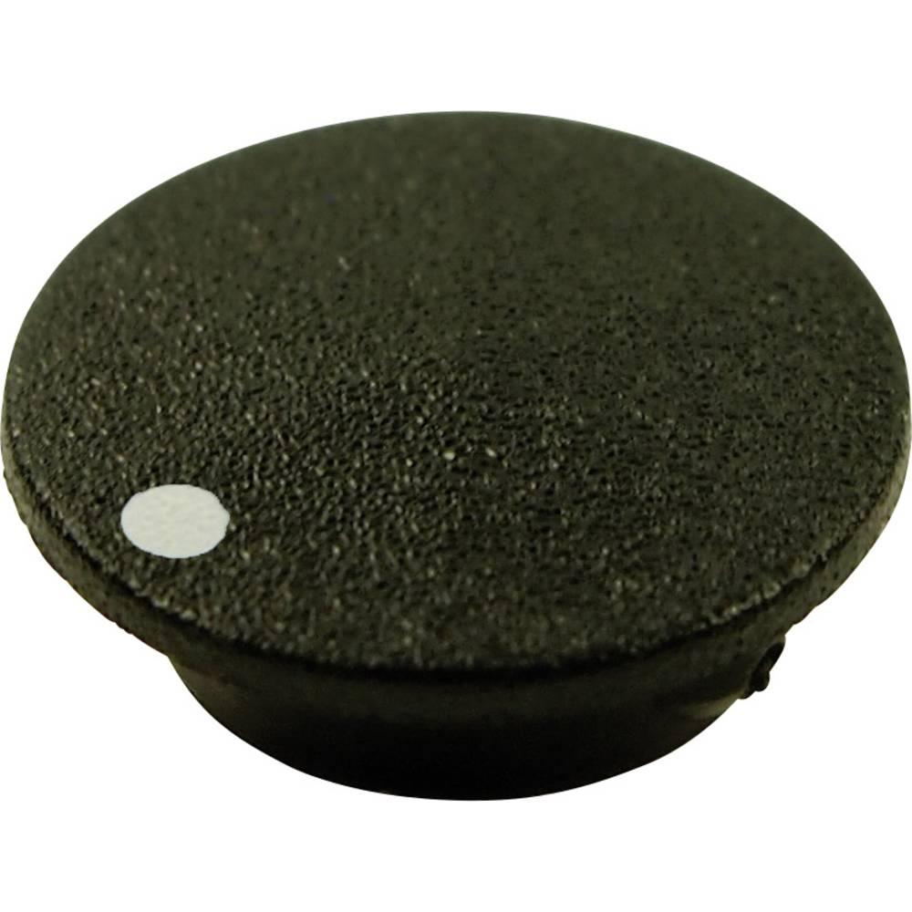 Poklopac sa točkom, crne boje, pogodan za vrtljivo dugme K21 Cliff CL1745 1 kom.