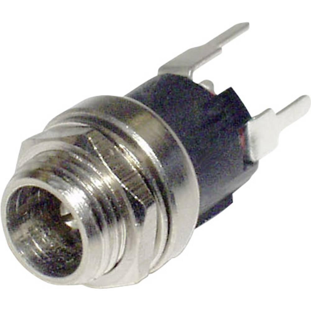 Lavspændingsstik Chassistilslutning, lige 2.1 mm econ connect DCE5AP 1 stk