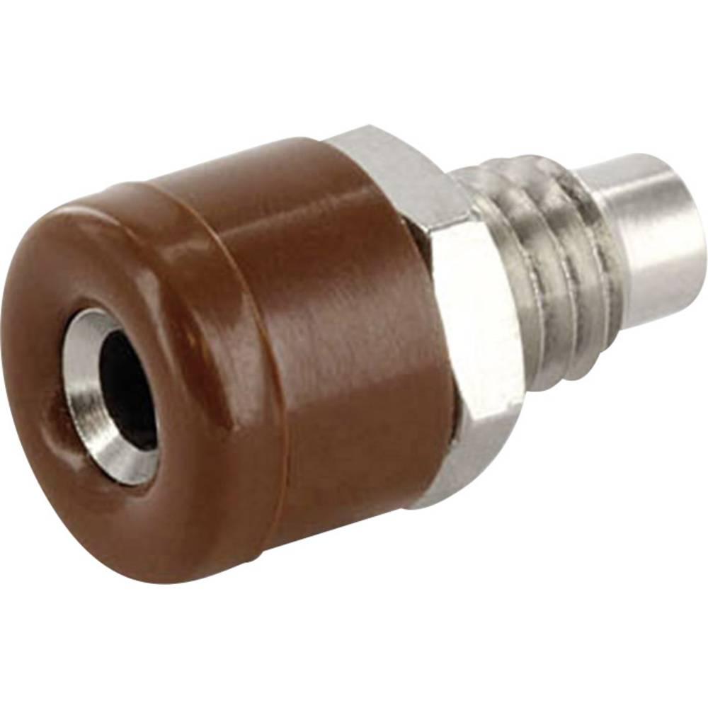 Laboratorietilslutning Tilslutning, indbygning lodret econ connect HOBBR 2.6 mm Brun 1 stk