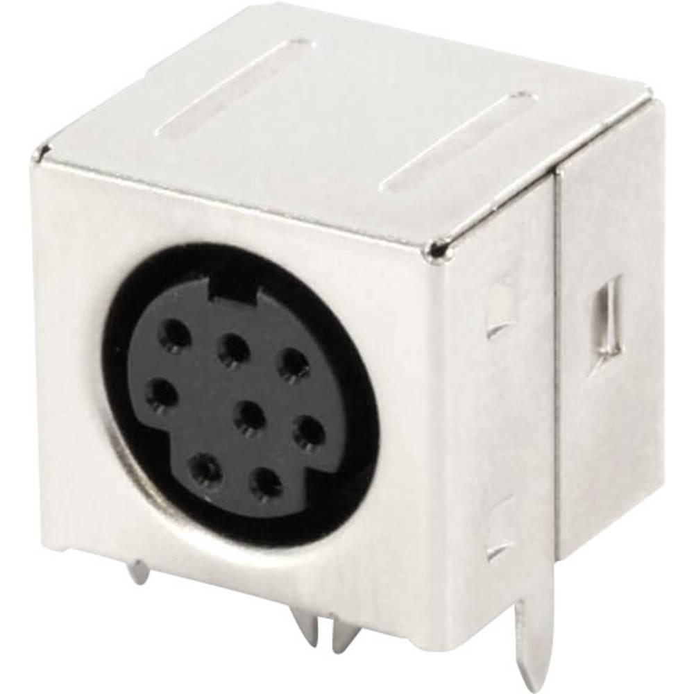 Miniaturni-DIN-okrogli vtični konektor za vtičnico, vgraden horizontalen število polov: 8 črne barve econ connect MDIOB8G 1 kos