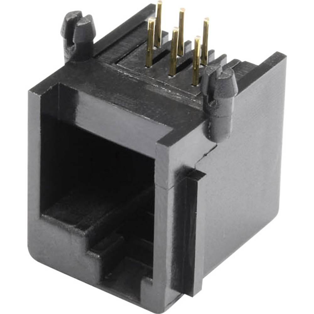 Modularna vgradna vtičnica, vgradna, horizontalna, polov: 6 MEBE66D črne barve econ connect MEBE66D 1 kos