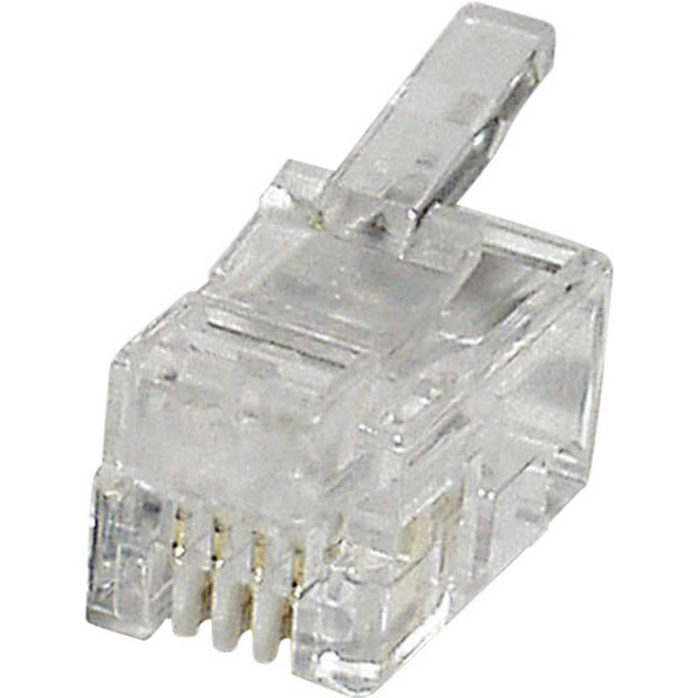 Modularni vtič, raven, polov:4 MPL44 prozoren econ connect MPL44 1 kos