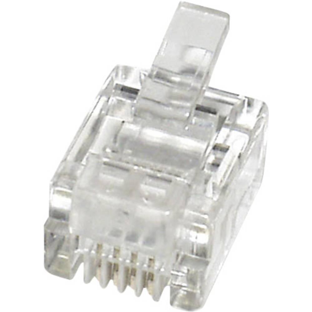 RJ11 Stik, lige econ connect MPL64 Klar 1 stk