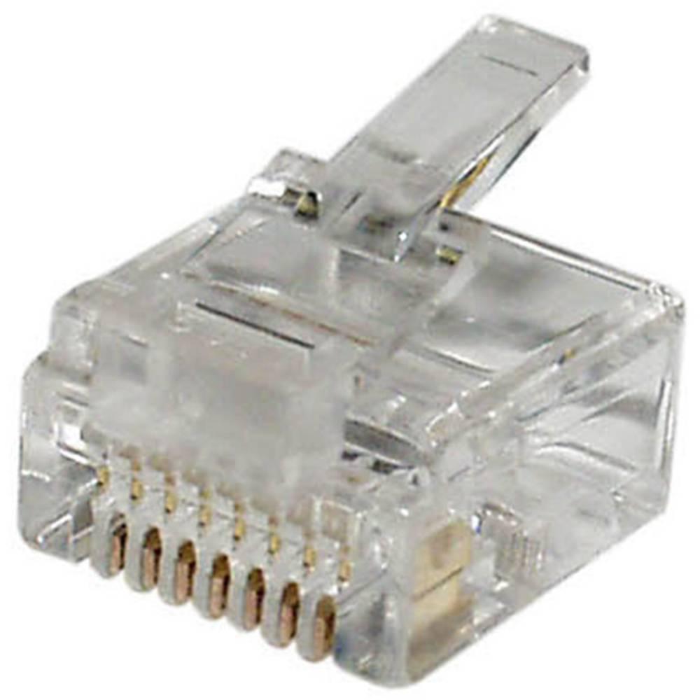 RJ45 Stik, lige econ connect MPL8/8K Klar 1 stk