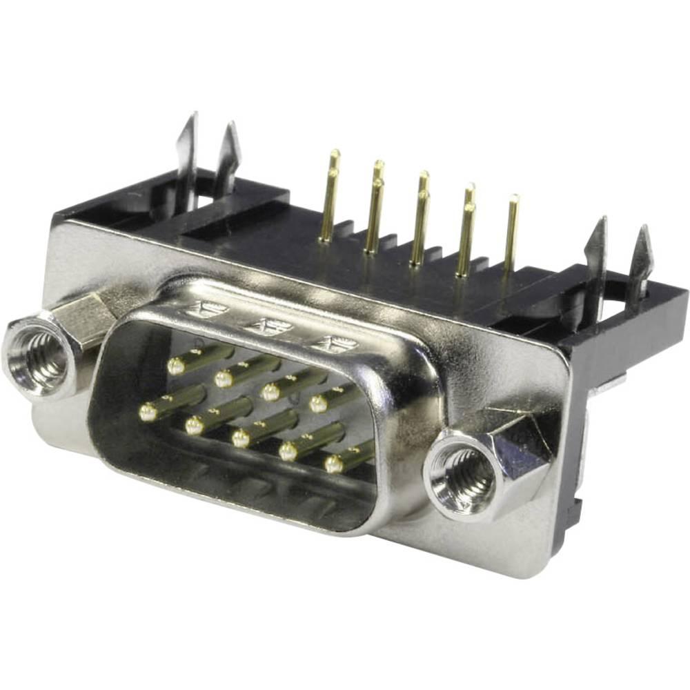 D-SUB pinska letev 90 ° število polov: 9 s spajkalnimi pini econ connect ST9WB/9 1 kos