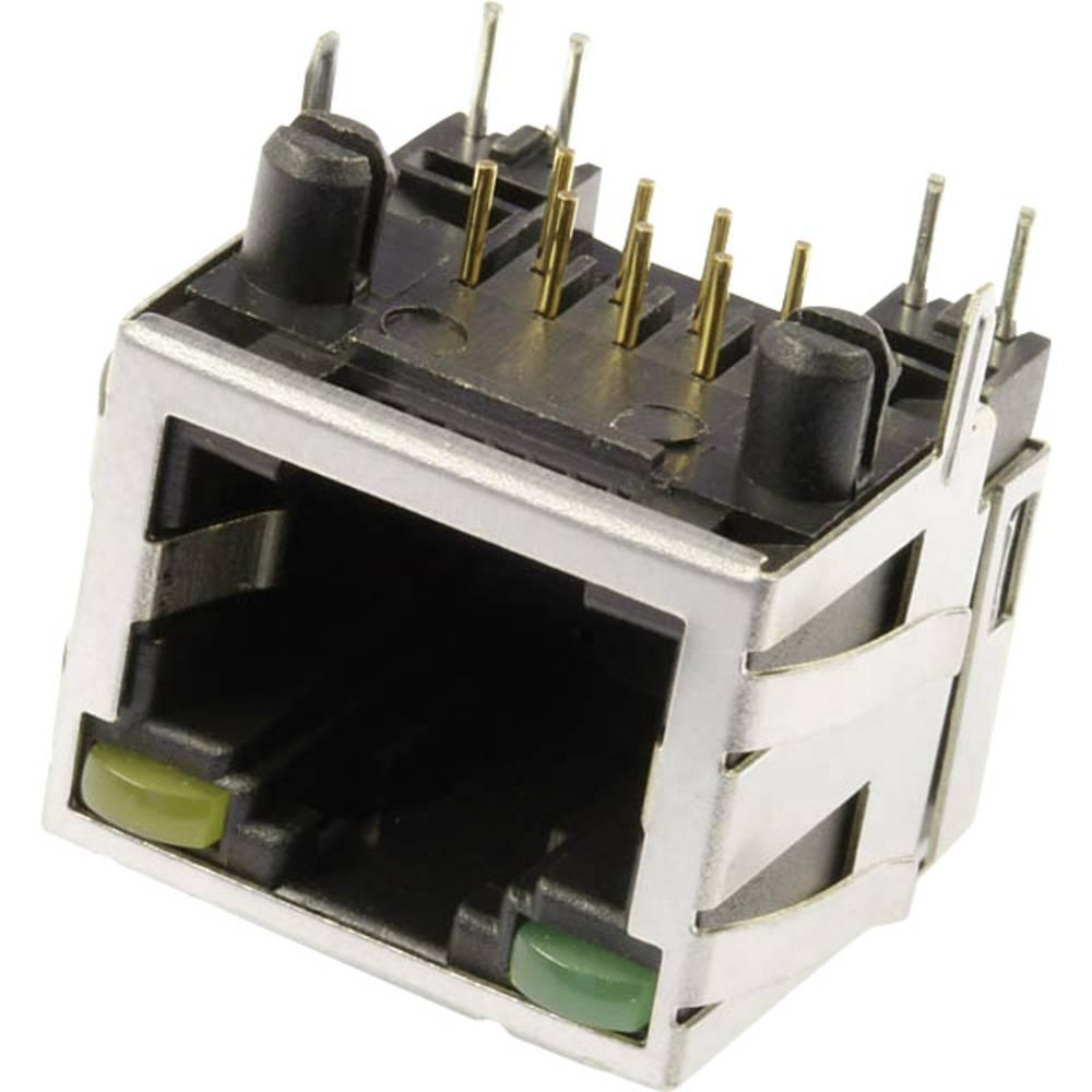 Modularna-vgradna vtičnica, vgradna, horizontalna, polov: 8 M8L1G3 kovinska econ connect M8L1G3 1 kos