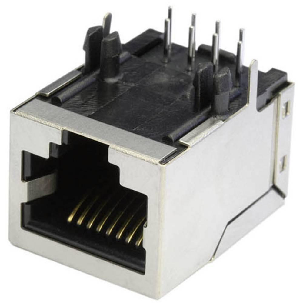RJ45 Tilslutning, indbygning vandret econ connect MEB8/8PG CAT 3 Metal 1 stk