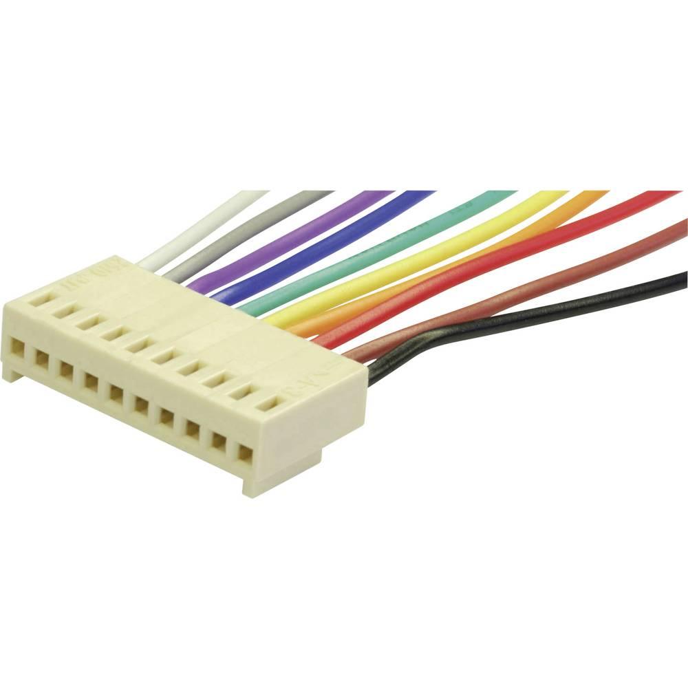 Vtičnica s kabli econ connect PS20, mere: 2.54 mm 1 kos