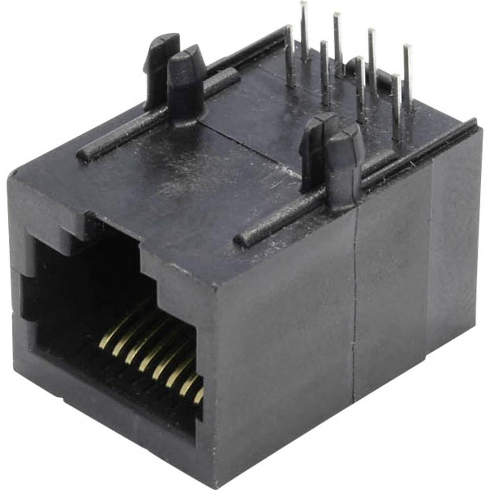 Modularna-vgradna vtičnica, vgradna, horizontalna, polov: 8 MSEU88A črne barve econ connect MSEU88A 1 kos