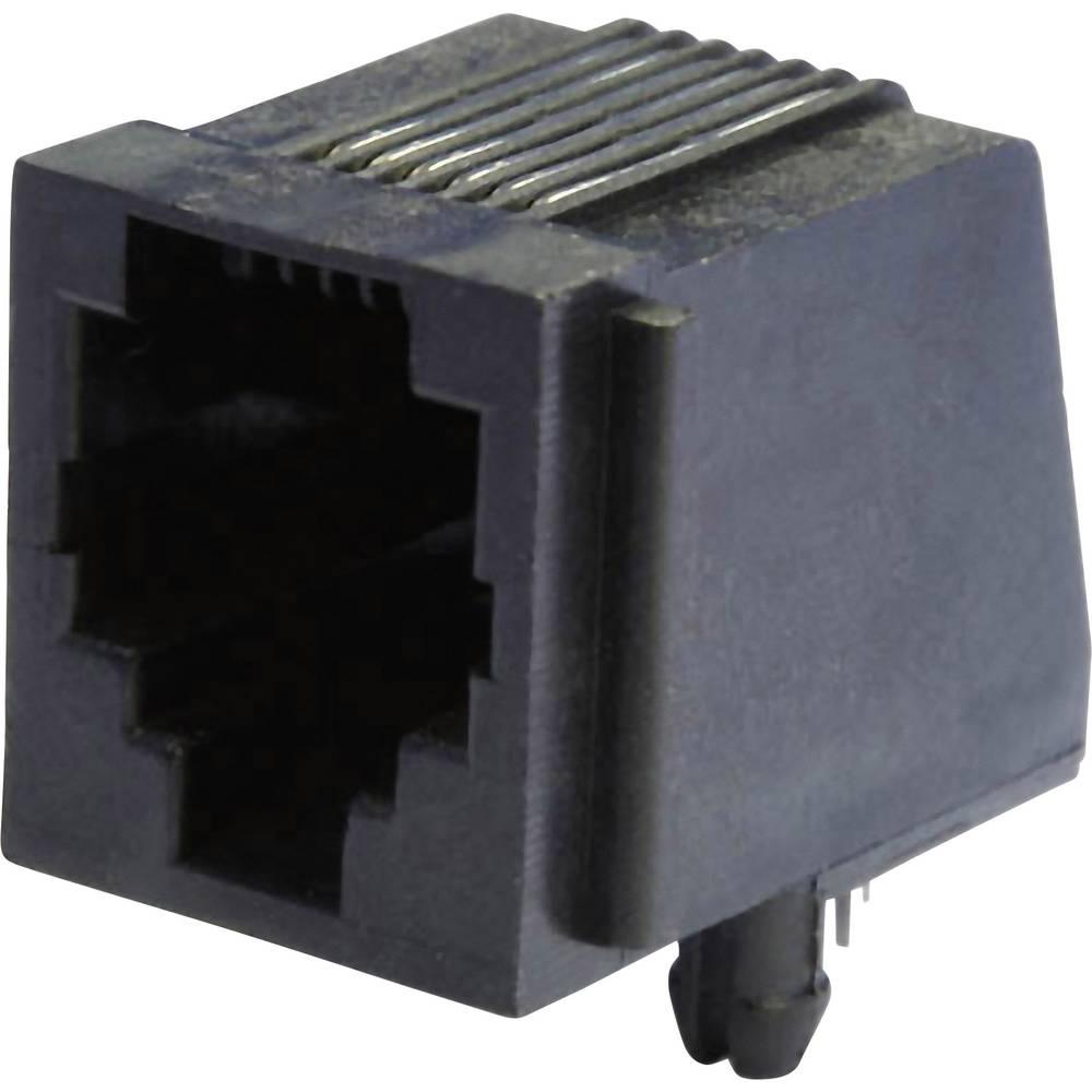 Modularna-vgradna vtičnica, vgradna, horizontalna, polov: 6 MEB6/6P črne barve econ connect MEB6/6P 1 kos