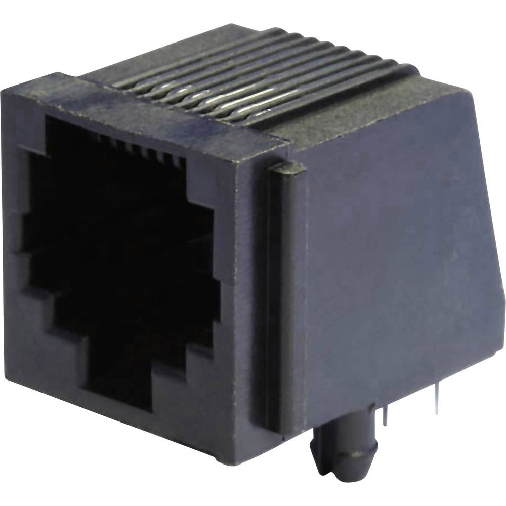 Modularna-vgradna vtičnica, vgradna, horizontalna, polov: 8 MEB8/8P črne barve econ connect MEB8/8P 1 kos