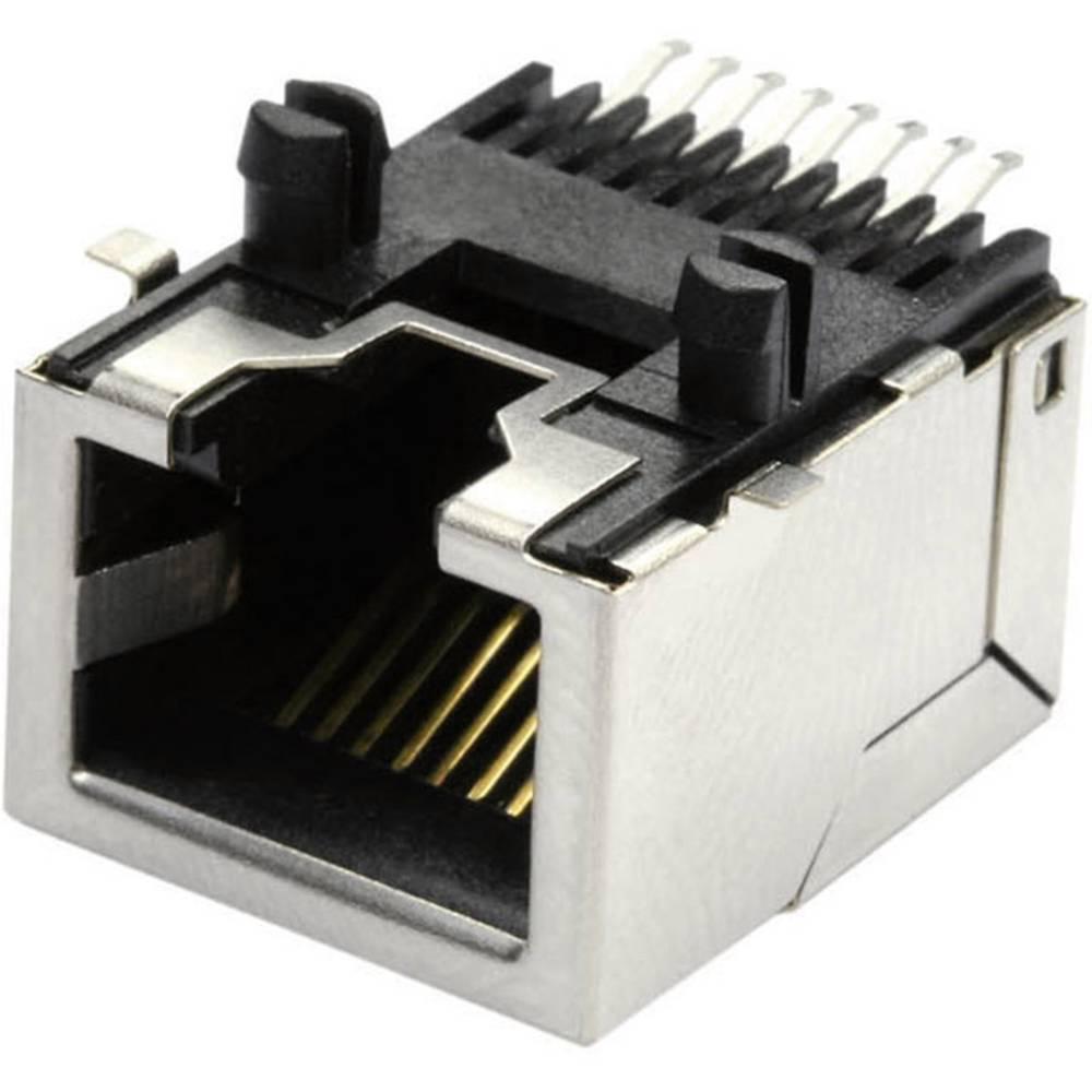 RJ45 Tilslutning, indbygning vandret econ connect MEB8/8GSMTKS CAT 3 Metal 1 stk