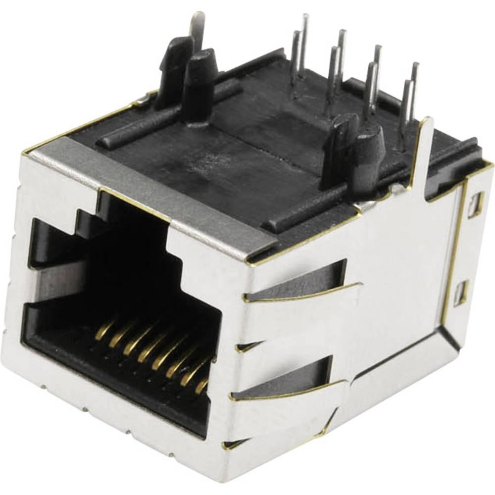 Modularna-vgradna vtičnica, vgradna, horizontalna, polov: 8 MSLT45A kovinska econ connect MSLT45A 1 kos
