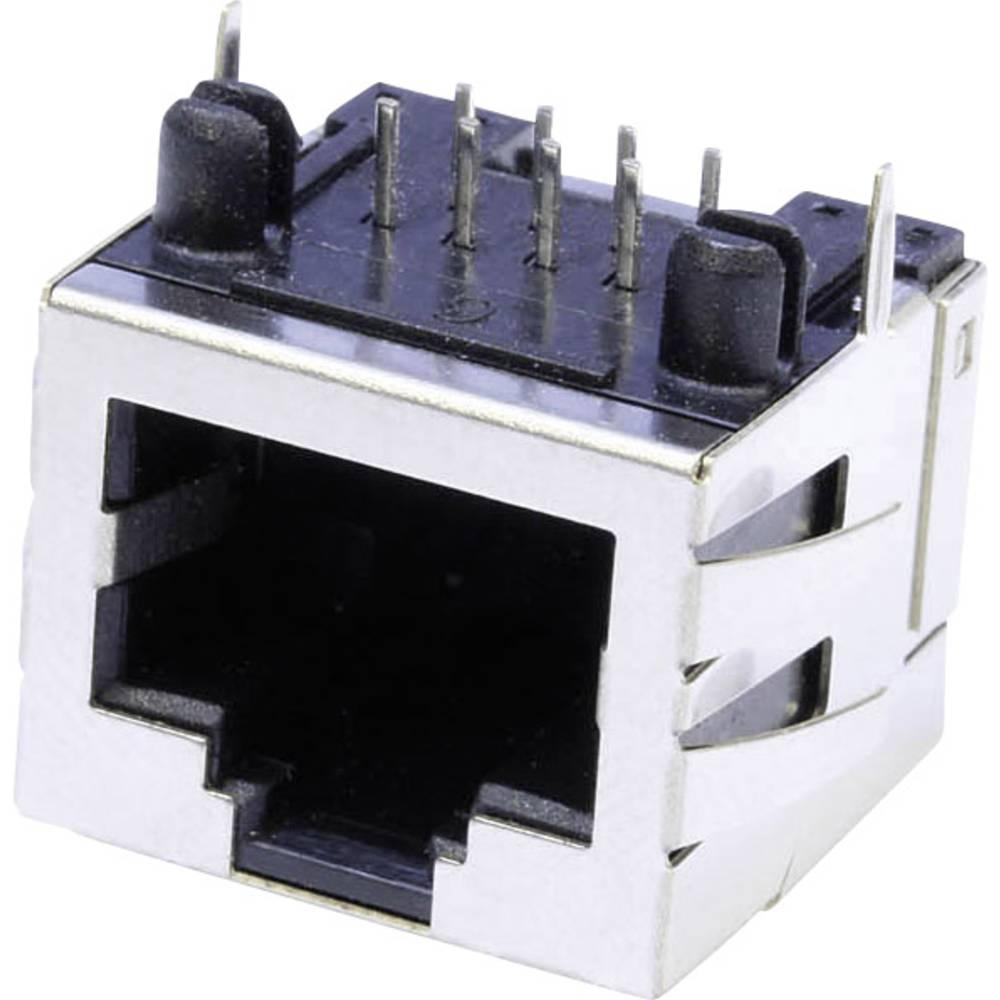 Modularna-vgradna vtičnica, vgradna, horizontalna, polov: 8 MUB88A kovinska econ connect MUB88A 1 kos