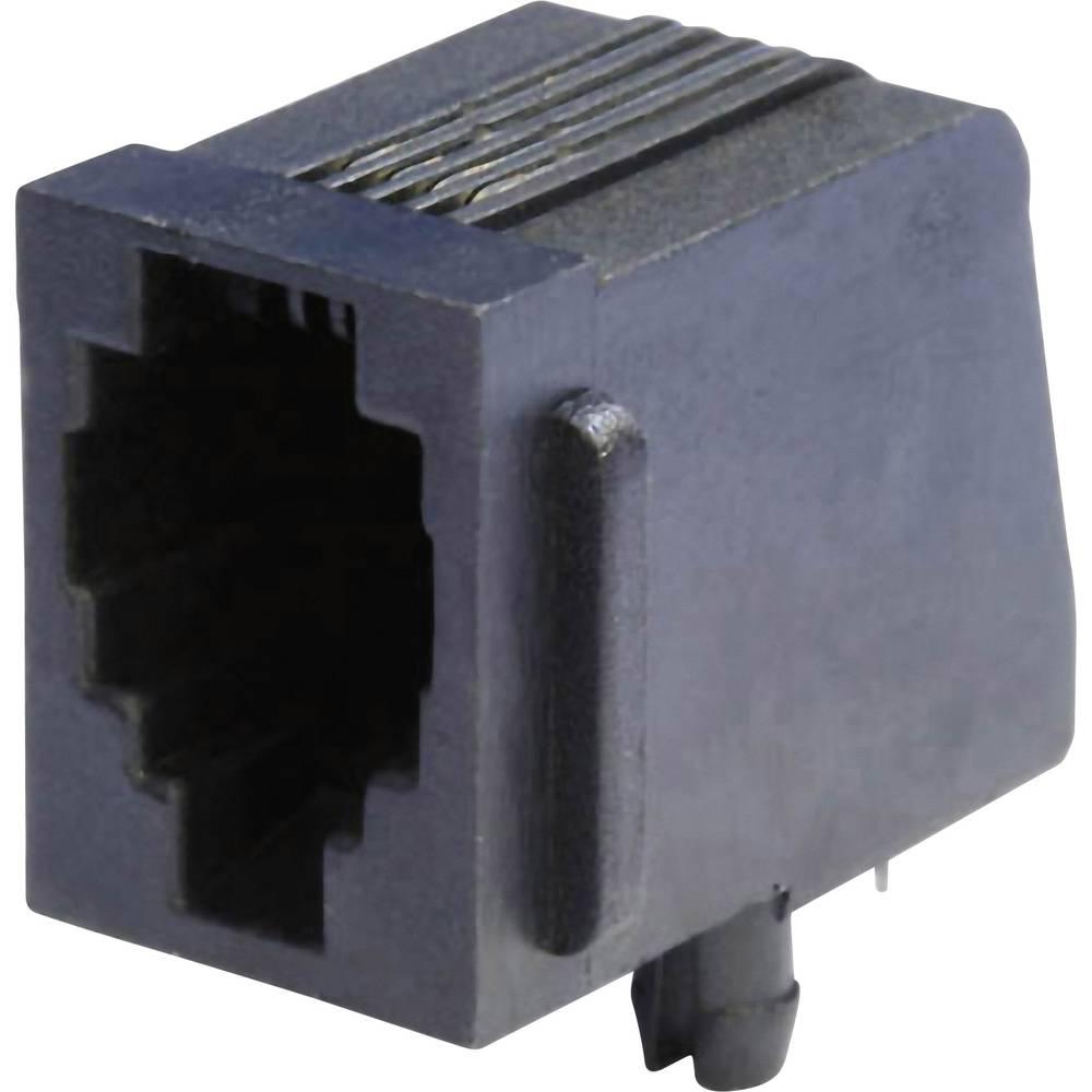 Modularna-vgradna vtičnica, vgradna, horizontalna, polov: 4 MEB4/4P črne barve econ connect MEB4/4P 1 kos