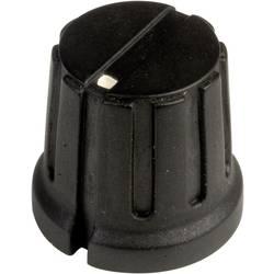 Vrtljivi gumb s kazalcem, črne barve (premer x V) 15.5 mm x 14.2 mm SCI PN-38D (6.4mm) 1 kos