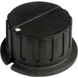 Vrtljivi gumb s kazalcem, črne barve (premer x V) 34.8 mm x 18 mm SCI PN-38A(6.4mm) 1 kos