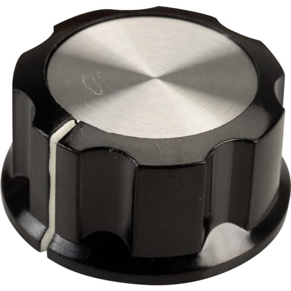 Vrtljivi gumb, črne, bele barve (premer x V) 33 mm x 16 mm SCI RN-99C(6.4mm) 1 kos