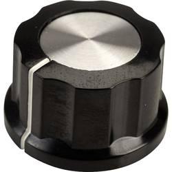 Vrtljivi gumb, črne, bele barve (premer x V) 26.8 mm x 15.8 mm SCI RN-99D(6.4mm) 1 kos