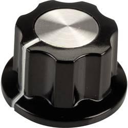 Vrtljivi gumb, črne, bele barve (premer x V) 19.5 mm x 11.5 mm SCI RN-99F(6.4mm) 1 kos