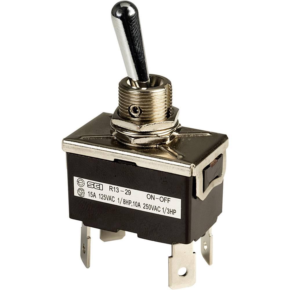 Prevesno stikalo 250 V/AC 10 A 2 x izklop/vklop SCI R13-29F zaskočno 1 kos