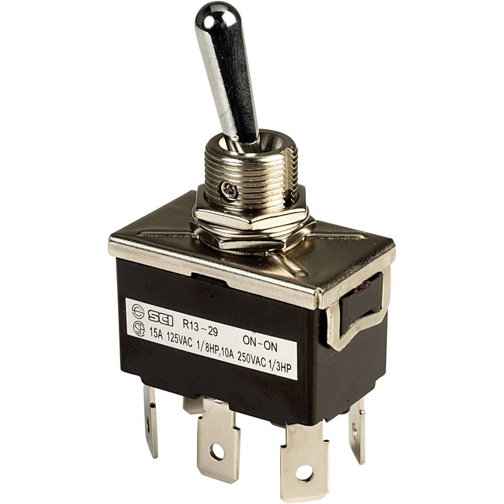 Prevesno stikalo 250 V/AC 10 A 2 x vklop/vklop SCI R13-29B zaskočno 1 kos