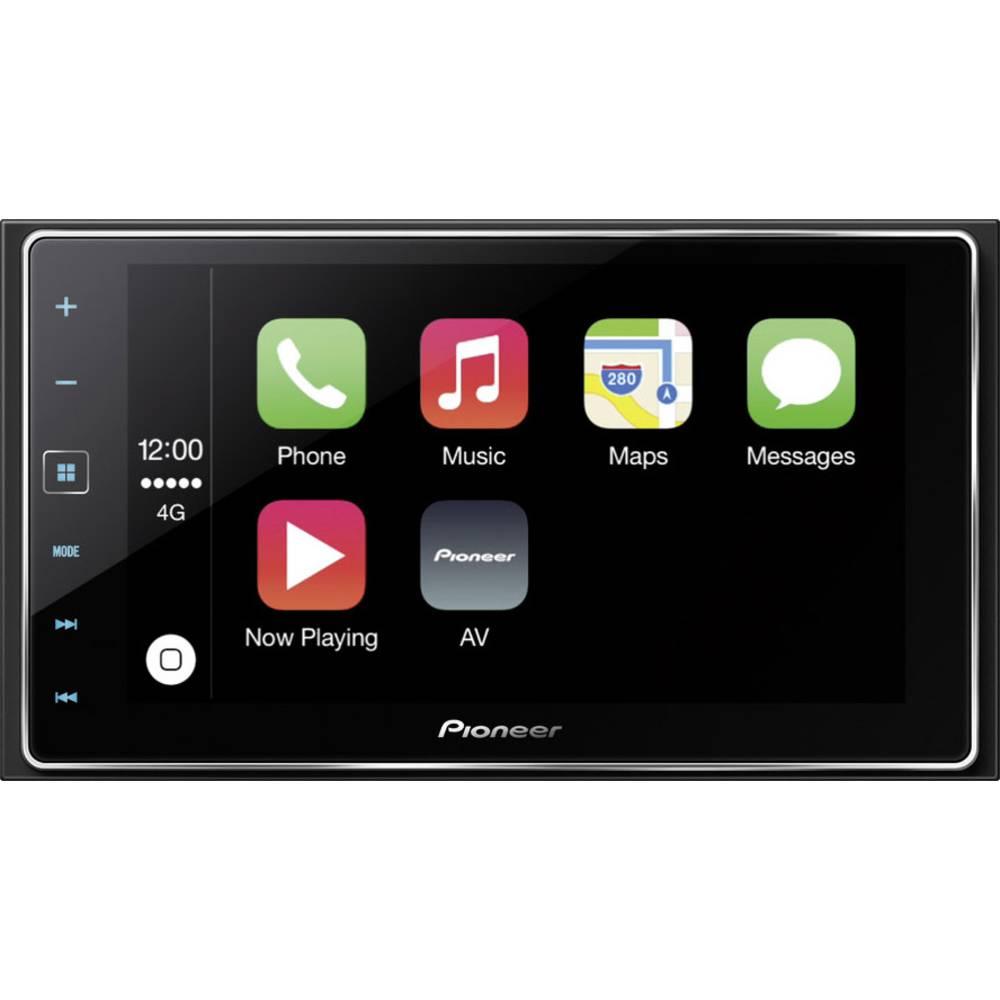 Dobbelt-DIN Moniceiver Pioneer SPH-DA120 Tilslutning til bagkamera, Tilslutning til ratbetjening, AppRadio, Håndfrit Bluetooth®-