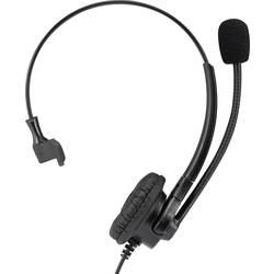 Telefon-Headset Basetech KJ-380M QD (Quick Disconnect) Sladd, Mono On-ear