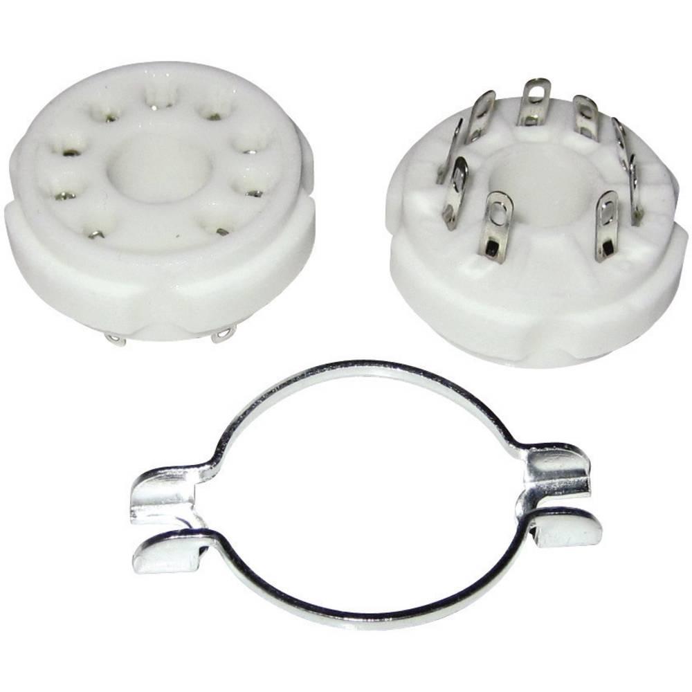 Podnožje elektronke 1 kom. 130565 št. polov: 9 podnožje: magnovalno vrsta montaže: šasija material: keramika