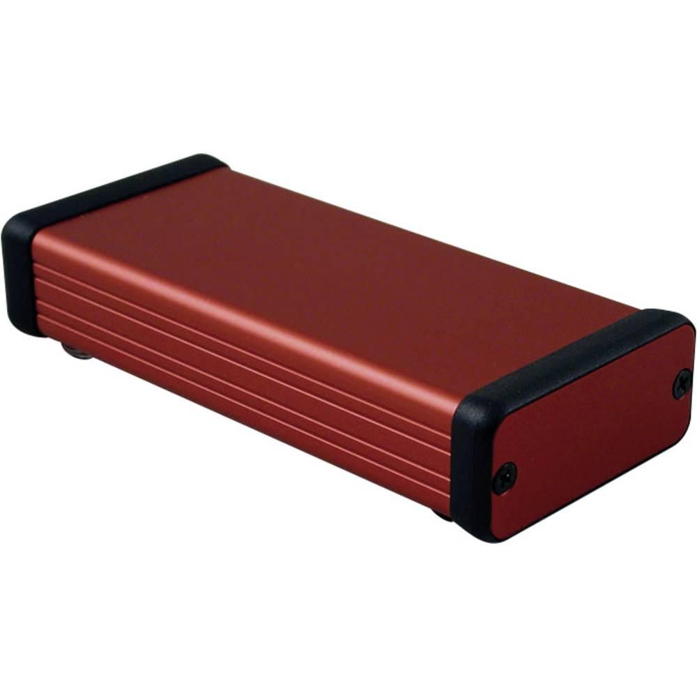Profilno kućište, aluminij, crvena boja 120 x 54 x 23 Hammond Electronics 1455C1201RD 1 kom.