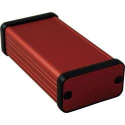 Profilno kućište, aluminij, crvena boja 80 x 45 x 25 Hammond Electronics 1455D801RD 1 kom.