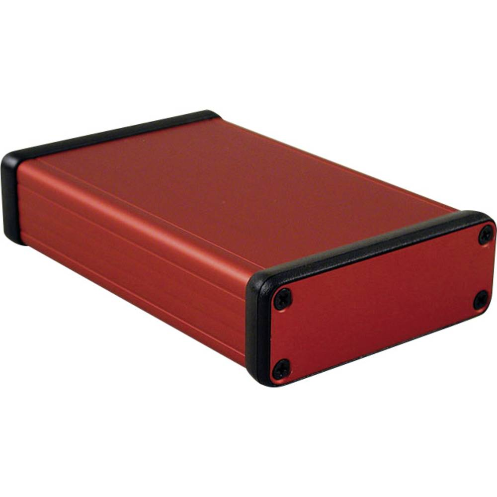 Profilno kućište, aluminij, crvena boja 120 x 78 x 27 Hammond Electronics 1455J1201RD 1 kom.