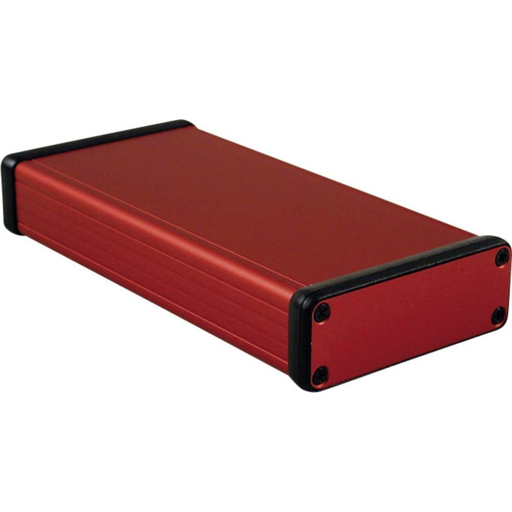 Profilno kućište, aluminij, crvena boja 160 x 78 x 27 Hammond Electronics 1455J1601RD 1 kom.