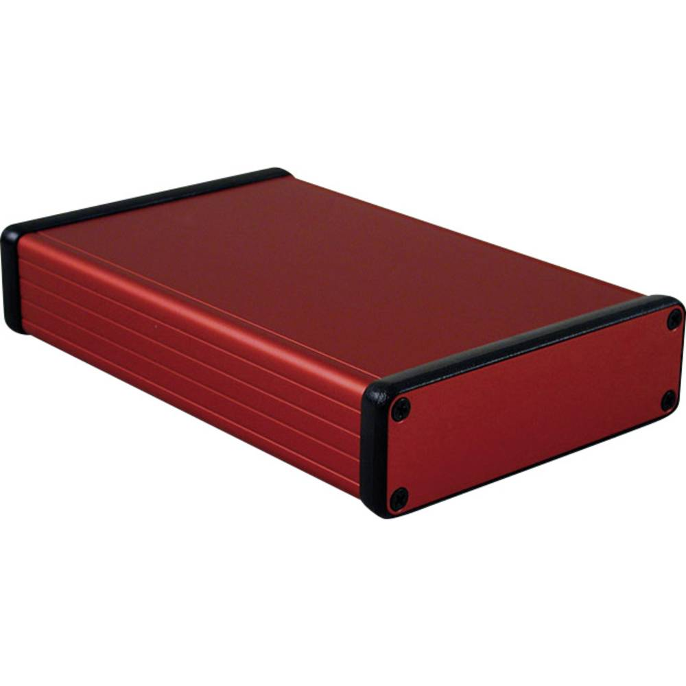 Profilno kućište, aluminij, crvena boja 160 x 103 x 30.5 Hammond Electronics 1455L1601RD 1 kom.
