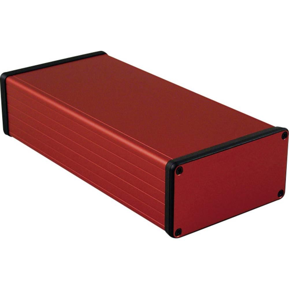 Profilno kućište, aluminij, crvena boja 220 x 103 x 53 Hammond Electronics 1455N2201RD 1 kom.